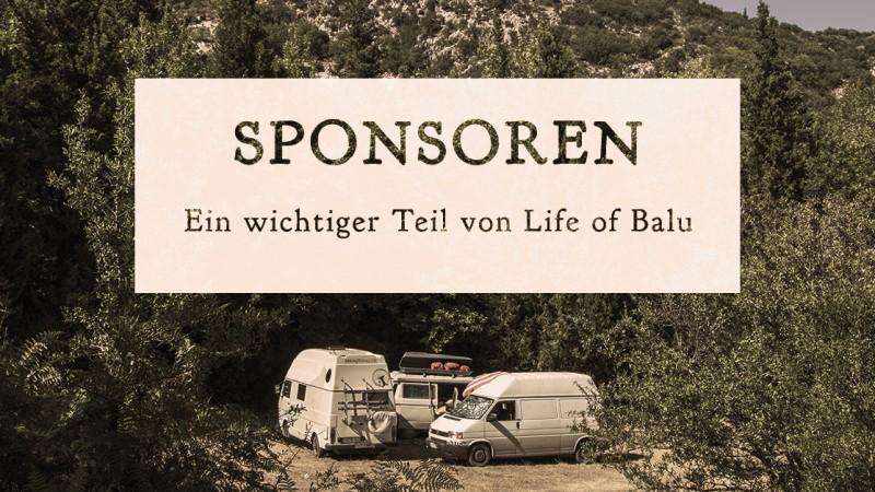 SPONSOREN – Ein wichtiger Teil von 'Life of Balu'_Titel Bild