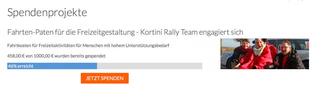 Spendenprojekt Fahrten-Paten